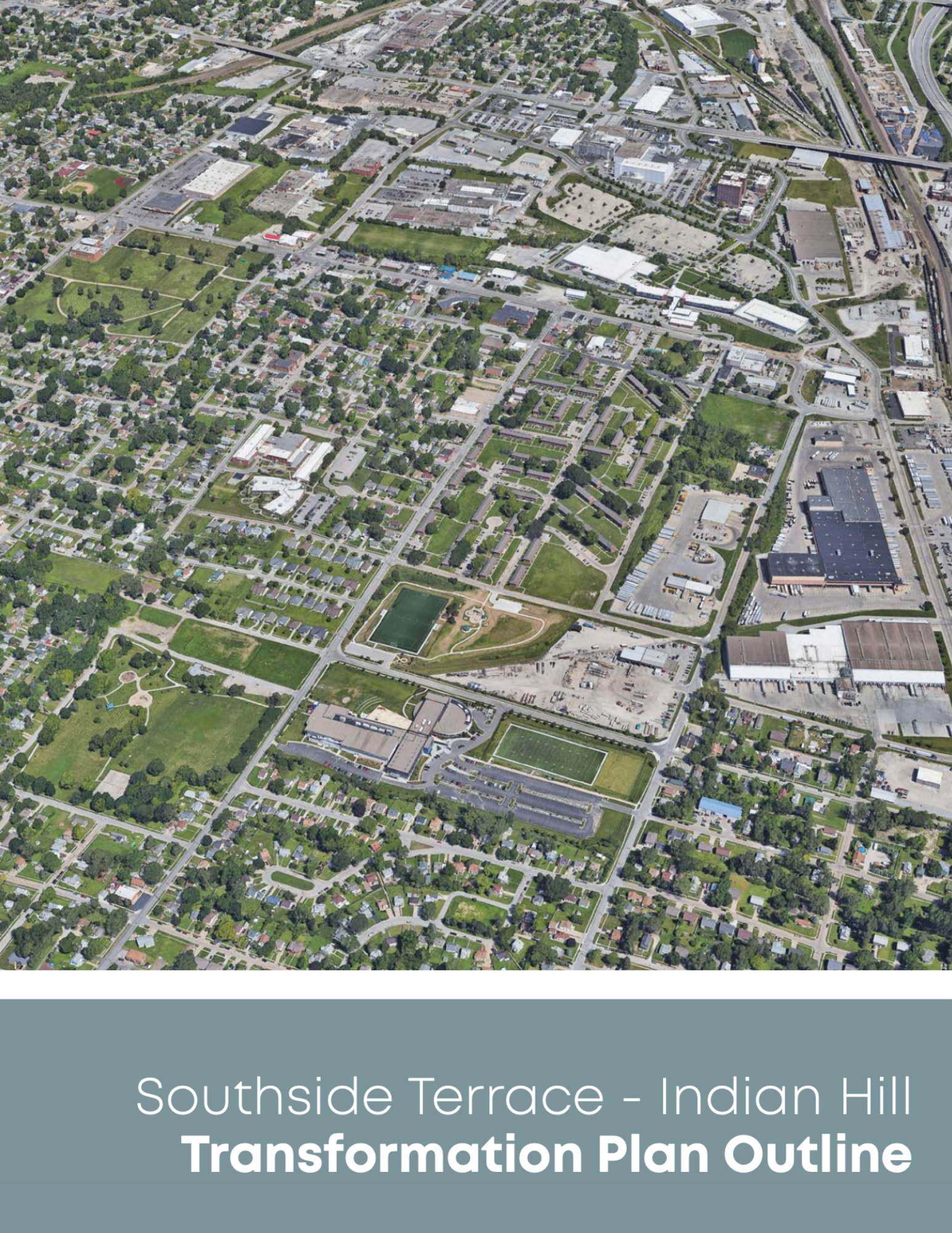 A rendering of Southside Terrace as seen from above