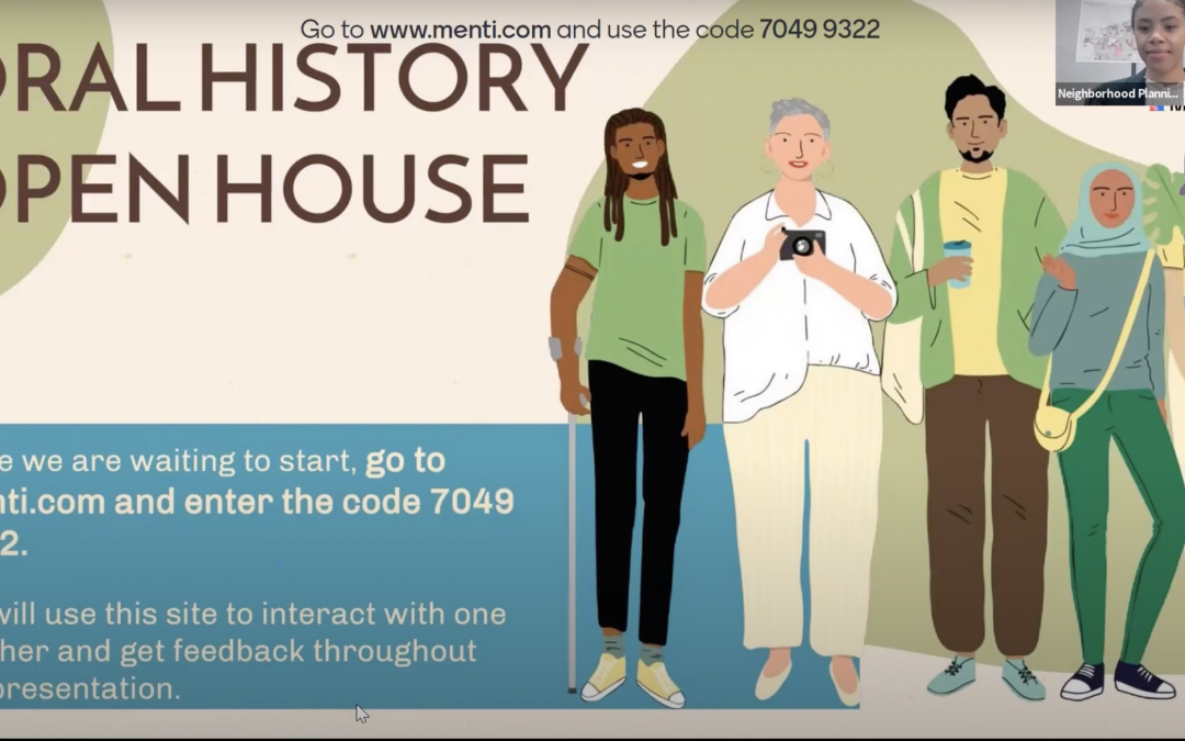Oral Histories Open House